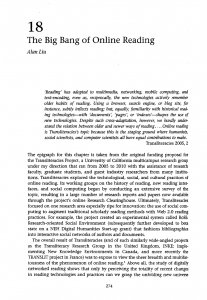 """""""The Big Bang of Online Reading"""" essay (first page screenshot)"""