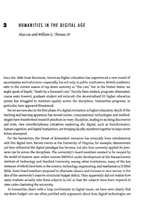 """""""The Humanities in the Digital Age"""" essay (first page screenshot)"""