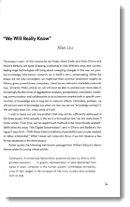 """""""We Will Really Know"""" essay (first page screenshot)"""