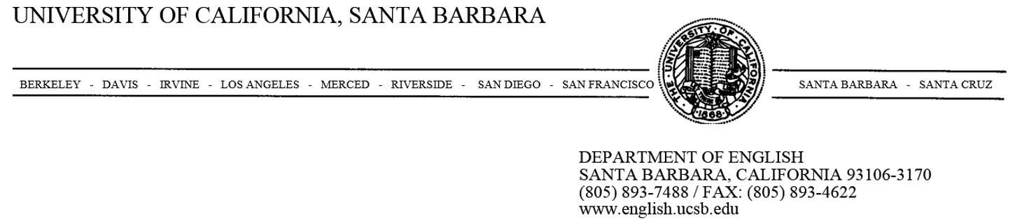 UCSB English Department letterhead/