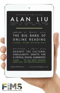 Flyer for Alan Liu's talk at U. Western Ontario, 2014