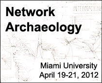 Poster for Network Archaeology Conference, Miami U., 2012
