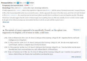 """OED eytmology for the word """"bore"""" (as in """"boring"""")"""