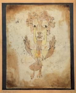 Paul Klee, Angelus Novus (1920), from Wikimedia Commons