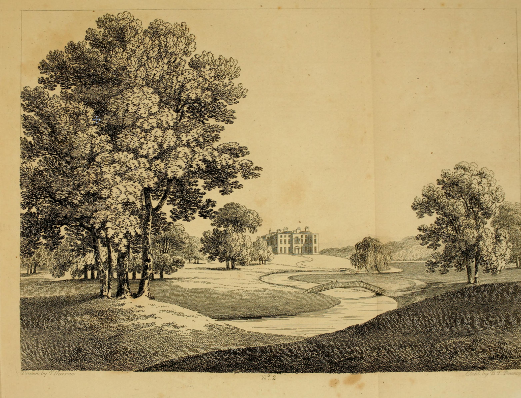 Benjamin Pouncey, after Thomas Hearne, An Undressed Park, from Richard Payne Knight, Landscape: A Didactic Poem.... (1795), plate 2. Etching.