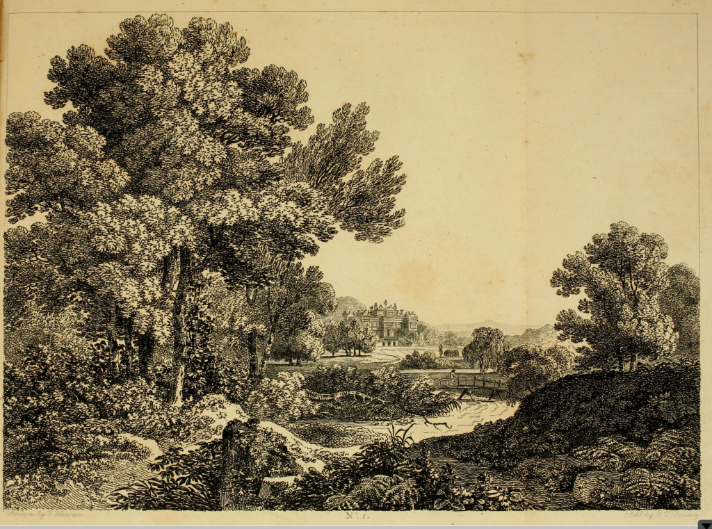 Benjamin Pouncey, after Thomas Hearne, A Park Dressed in the Modern Style, from Richard Payne Knight, Landscape: A Didactic Poem.... (1795), plate 1. Etching.