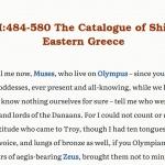 Homer's Iliad (2.494-759)