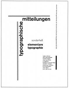 Jan Tschichold, cover for Elementare Typographie insert (1925)