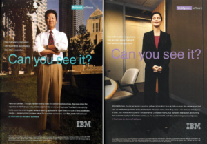 "IBM ""Can you see it?"" advertisements in Business Week, 17 November 2003"