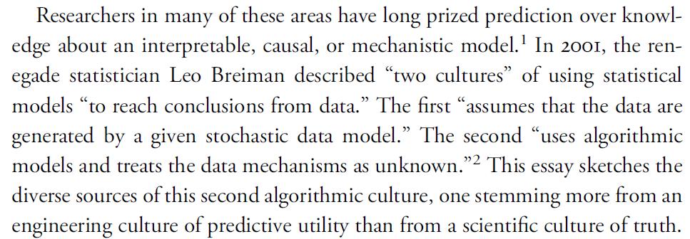 "quotation from Matthew L. Jones, ""How We Became Instrumentalists (Again): Data Positivism since World War II"" (2018), p. 674"